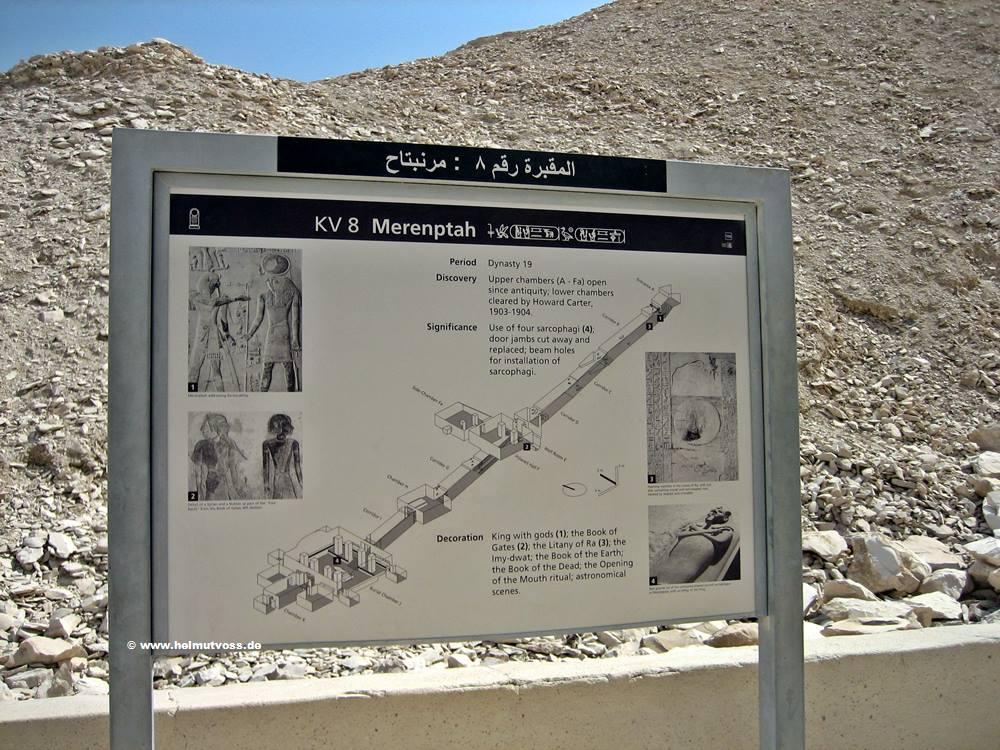 Aegypten, Tal der Koenige KV8 Grab MERENPTAH, Valley of the Kings