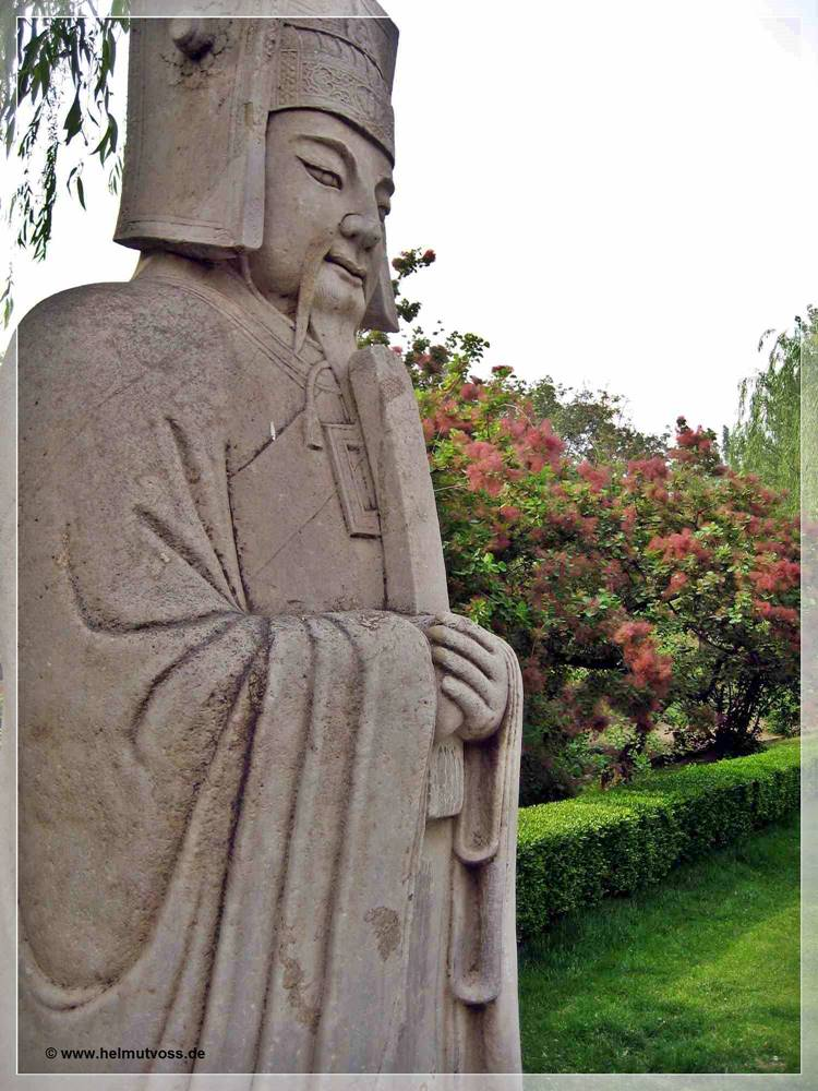 China / Peking - Seelenallee - BMeritorious Official Statue 勋臣,  Běijīng, 十三陵总神道 - 故宫, Shisanling Zong Shendao - Běijīng, ways of souls