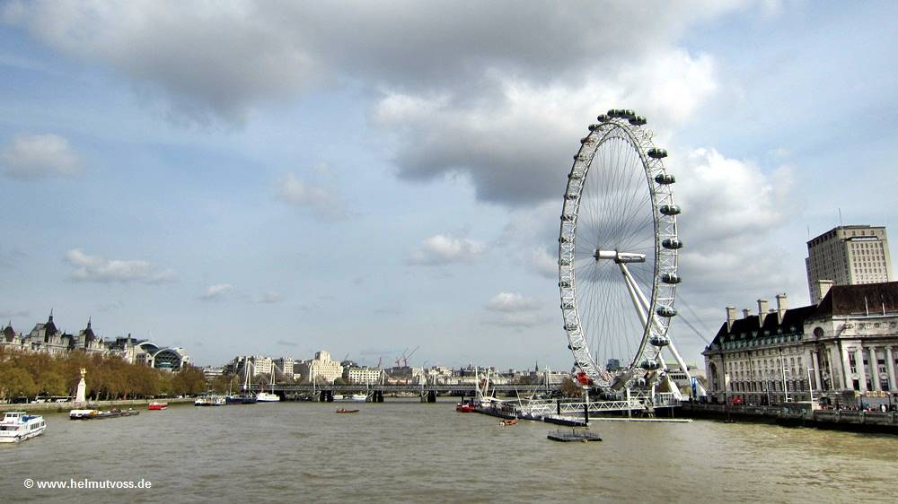 London Westminster Themse Auge von London, Das London Eye