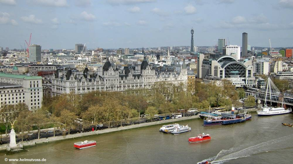 London, CANON STREET STATION, Westminster, Themse, Auge von London, Das London Eye